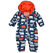 Buy Hatley Baby Polar Bear Print Snowsuit, Navy Online at johnlewis.com