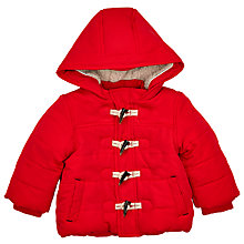 Buy John Lewis Baby's Toggle Puffer Coat, Red Online at johnlewis.com