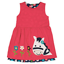 Buy Frugi Baby Pip Reversible Zebra Dress, Multi Online at johnlewis.com