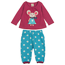 Buy Frugi Baby Molly Mouse Top and Trouser Set, Red/Blue Online at johnlewis.com