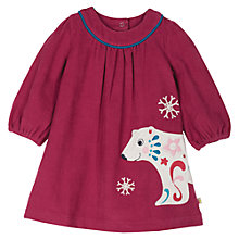 Buy Frugi Baby Polar Bear Dress, Red Online at johnlewis.com