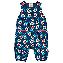 Buy Frugi Baby Willow Flower Cord Dungarees, Blue Online at johnlewis.com