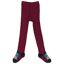Buy Frugi Children's Twinkle Bird Tights, Red Online at johnlewis.com
