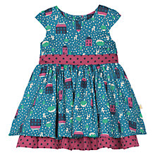 Buy Frugi Baby Deer Print Dress, Blue Online at johnlewis.com
