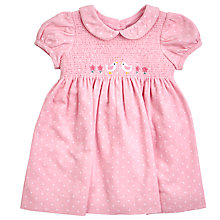 Buy John Lewis Baby's Cord Smock Dress, Pink Online at johnlewis.com