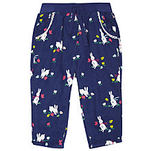 Buy John Lewis Baby's Rabbit Print Cord Trousers, Navy Online at johnlewis.com