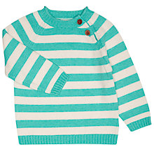 Buy John Lewis Baby's Striped Jumper, Cream Online at johnlewis.com