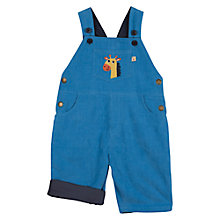 Buy Frugi Baby Dylan Giraffe Dungarees, Blue Online at johnlewis.com