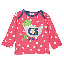 Buy Frugi Baby Bobby Duck Spotted Top, Multi Online at johnlewis.com