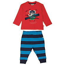 Buy Frugi Organic Baby Archie Elephant Top and Trouser Set, Multi Online at johnlewis.com