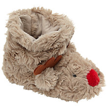 Buy John Lewis Baby's Reindeer Boots, Brown Online at johnlewis.com