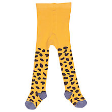 Buy Frugi Baby Norah Leopard Tights, Yellow/Multi Online at johnlewis.com