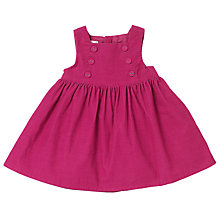 Buy John Lewis Baby's Cord Dress, Pink Online at johnlewis.com