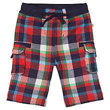 Buy Frugi Baby Snugs Check Trousers, Multi Online at johnlewis.com
