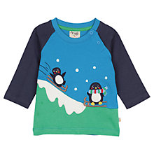 Buy Frugi Organic Baby Henry Penguin Top, Blue Online at johnlewis.com