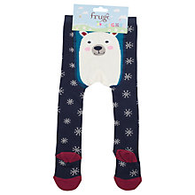 Buy Frugi Baby Polar Bear Tights, Blue Online at johnlewis.com