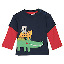 Buy Frugi Baby Look Out Jungle Long Sleeve T-Shirt, Multi Online at johnlewis.com