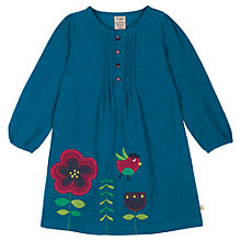 Buy Frugi Girl's Heidi Bird Dress, Blue Online at johnlewis.com