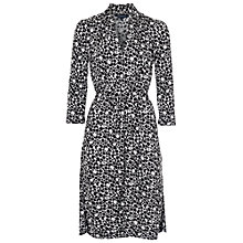 Buy French Connection Amakhala Jersey Belted Dress, Black / Winter White Online at johnlewis.com