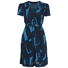Buy French Connection Brushstrokes Jersey Dress, Nocturnal/Celestial Blue Online at johnlewis.com