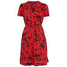 Buy French Connection Imperial Jersey Short Sleeve Dress, Havana Red Online at johnlewis.com