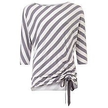 Buy Phase Eight Striped Danika Top, Grey/White Online at johnlewis.com