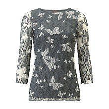 Buy Phase Eight Bernie Mesh Top, Grey/White Online at johnlewis.com