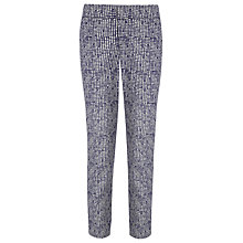 Buy Phase Eight Erica Square Printed Trousers, Navy/Ivory Online at johnlewis.com