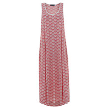Buy Mint Velvet Kora Print Maxi Dress, Papaya/Ivory Online at johnlewis.com