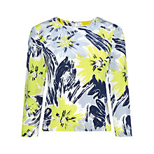 Buy Whistles Bloomsbury Print Swing Hem Silk Top, Multi Online at johnlewis.com