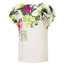 Buy Phase Eight Acacia Floral Blouse, Ivory Online at johnlewis.com