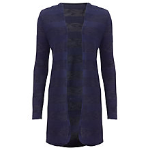 Buy Phase Eight Chloe Self Stripe Cardigan, Navy Online at johnlewis.com