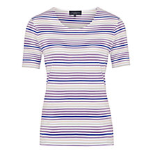 Buy Viyella Petite Stripe Jersey Top, Purple Online at johnlewis.com