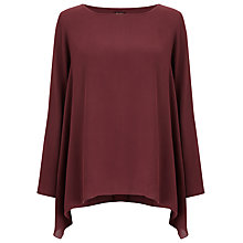 Buy Phase Eight Paris Hanky Hem Blouse, Winter Rose Online at johnlewis.com