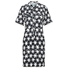Buy Whistles Sekka Frayed Shirt Dress, Black/White Online at johnlewis.com