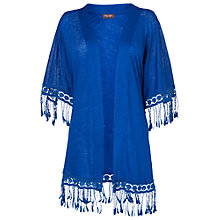Buy Phase Eight Kate Tasselled Kimono, Blue Online at johnlewis.com