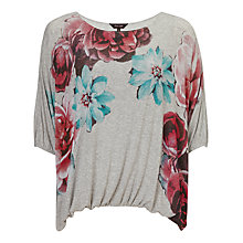 Buy Phase Eight Cecily Floral Top, Grey Online at johnlewis.com