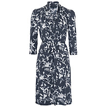 Buy French Connection Imperial Jersey Long Sleeve Dress, Utility Blue Online at johnlewis.com