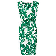 Buy Phase Eight Fionn Fern Print Dress, Green/White Online at johnlewis.com