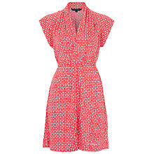 Buy French Connection Mini Mosaic Jersey Dress, Havana Red/White Online at johnlewis.com