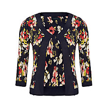 Buy Viyella Floral Crinkle Shrug, Navy/Multi Online at johnlewis.com