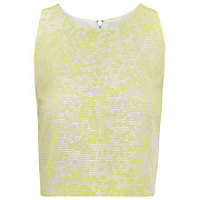 Buy Whistles Lorna Jacquard Stripe Top, Yellow Online at johnlewis.com