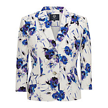 Buy Viyella Floral Print Linen Jacket, White/Multi Online at johnlewis.com