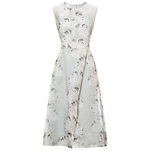 Buy Whistles Silk Organza Palm Print Dress, Pale Grey Online at johnlewis.com