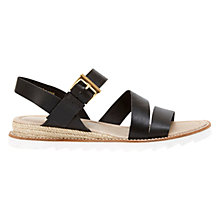 Buy Mint Velvet Raven Leather Espadrille Sandals, Black Online at johnlewis.com