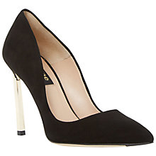 Buy Dune Black Barcella Toe Pointed Stiletto Court Shoes Online at johnlewis.com
