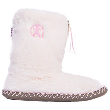 Buy Bedroom Athletics Monroe Faux Fur Slipper Boots, Cream Online at johnlewis.com