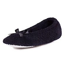 Buy Totes Popcorn Ballet Slippers, Black Online at johnlewis.com