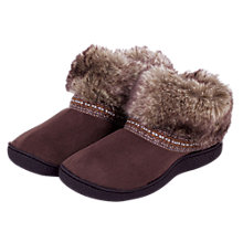Buy Totes Woodland Boot Slippers, Brown Online at johnlewis.com