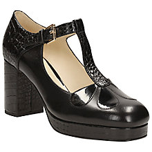 Buy Clarks Orla Kiely Abigail Leather T-Bar Platform Shoes Online at johnlewis.com